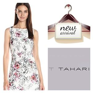 NWT  T Tahari Women's Kensie Lace A-line Dress